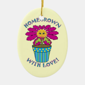Homegrown with Love Ceramic Ornament