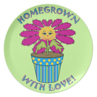 Homegrown with Love Melamine Plate