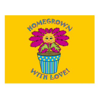 Homegrown with Love Postcard
