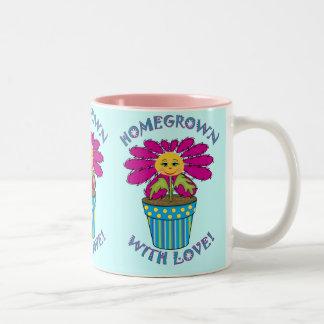 Homegrown with Love Two-Tone Coffee Mug