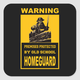 HOMEGUARD SECURITY SQUARE STICKER