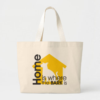 Homeis Where the Bark is Tote Bags