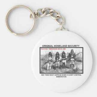 Homeland Security 1492 Basic Round Button Keychain