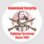 homeland security-1 classic round sticker