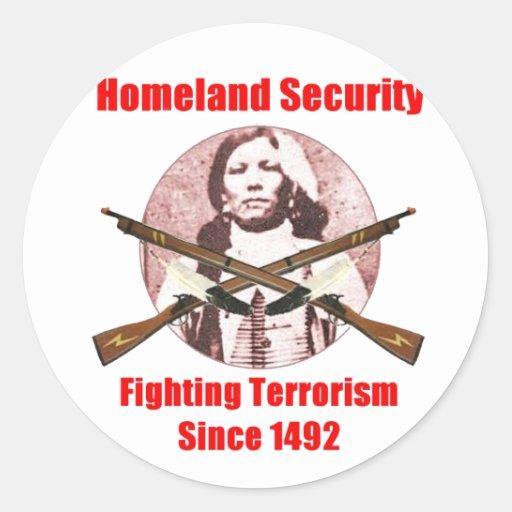 homeland security-1 classic round sticker