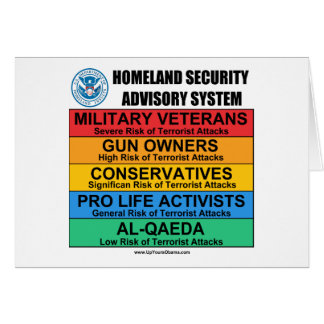 Homeland Security Advisory Card