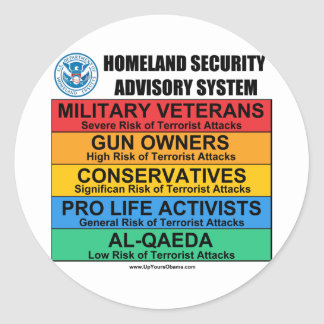 Homeland Security Advisory Classic Round Sticker
