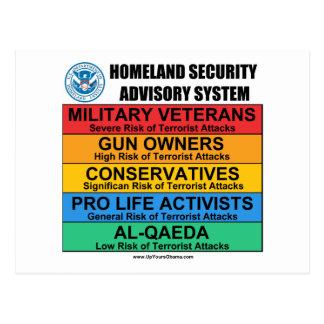 Homeland Security Advisory Postcard
