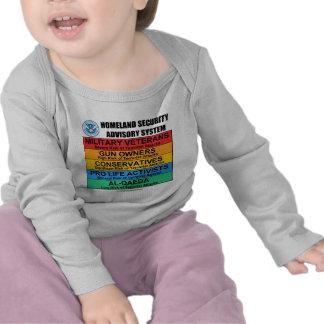 Homeland Security Advisory T-shirts