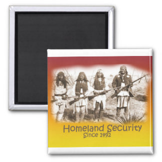 Homeland Security Apache 2 Inch Square Magnet