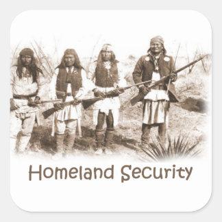 Homeland Security Apache Square Sticker
