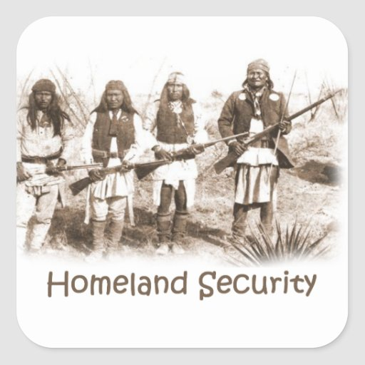Homeland Security Apache Square Stickers