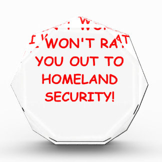homeland security acrylic award