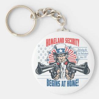 Homeland Security Begins with 2nd Amendment Keychain