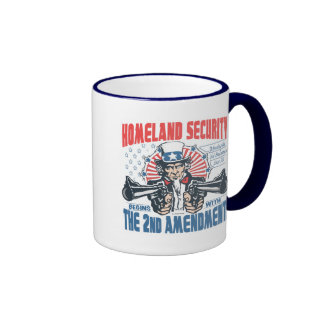 Homeland Security Begins with 2nd Amendment Ringer Mug