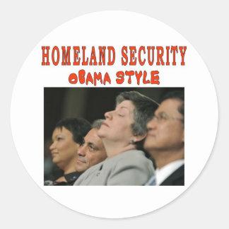 HOMELAND SECURITY CLASSIC ROUND STICKER