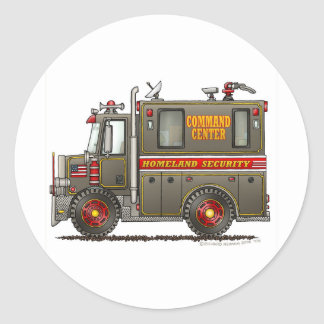 Homeland Security Command Truck Classic Round Sticker