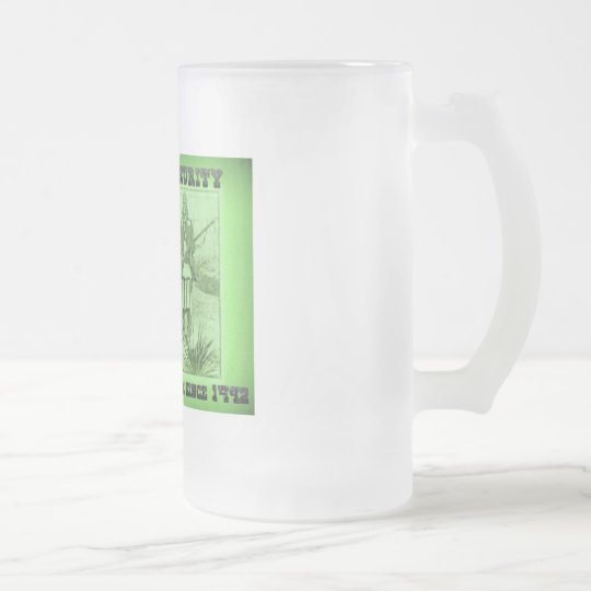 Homeland Security Fighting Terrorism Since 1492 Frosted Glass Beer Mug