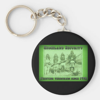 Homeland Security Fighting Terrorism Since 1492 Keychain