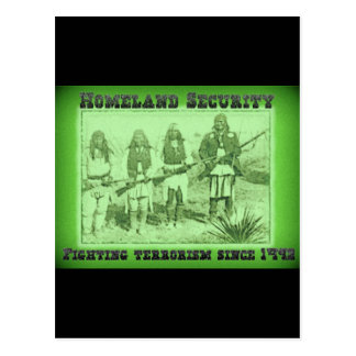 Homeland Security Fighting Terrorism Since 1492 Postcard