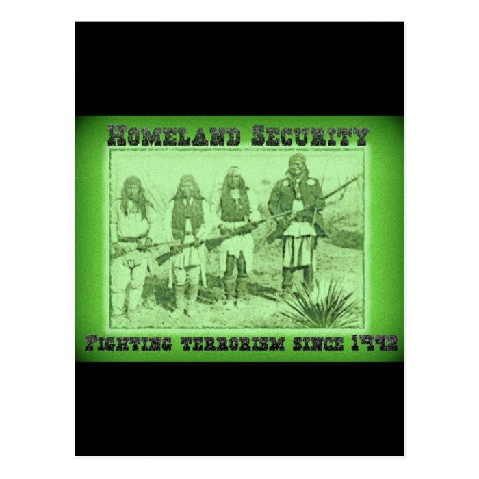 Homeland Security Fighting Terrorism Since 1492 Postcard