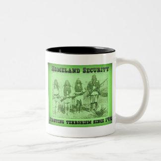 Homeland Security Fighting Terrorism Since 1492 Two-Tone Coffee Mug