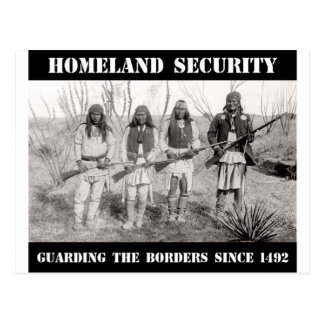 HOMELAND SECURITY Guarding The Borders since 1492 Postcard