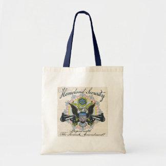 Homeland Security Gun-Toting Eagle Gear Canvas Bags