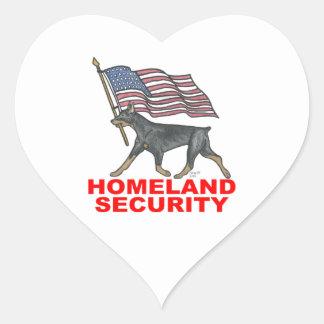HOMELAND SECURITY HLSDP HEART STICKER