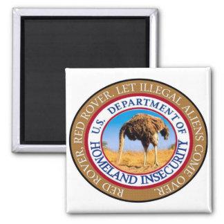 Homeland security magnet. 2 inch square magnet