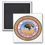 Homeland security magnet. 2 inch square magnet