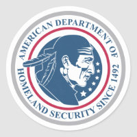 Homeland Security, Native American Classic Round Sticker