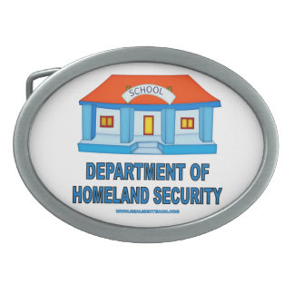 Homeland Security Oval Belt Buckle