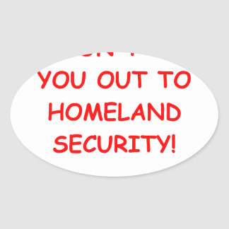 homeland security oval sticker