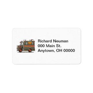 Homeland Security Truck Address Label