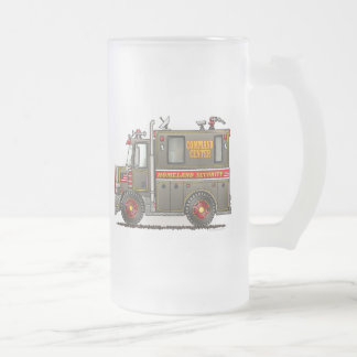 Homeland Security Truck Frosted Glass Mug