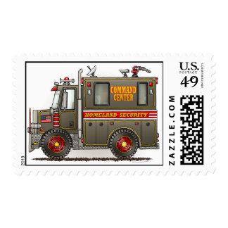 Homeland Security Truck Police Postage Stamp