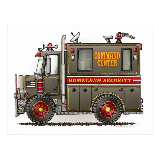 Homeland Security Truck Postcard