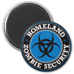Homeland Zombie Security - Blue B 2 Inch Round Magnet