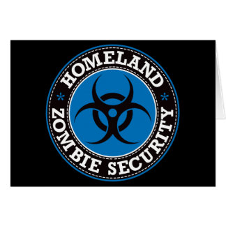 Homeland Zombie Security - Blue B Card