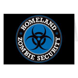 Homeland Zombie Security - Blue B Card