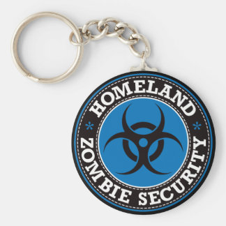 Homeland Zombie Security - Blue B Keychain
