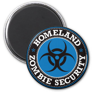 Homeland Zombie Security - Blue B Magnet