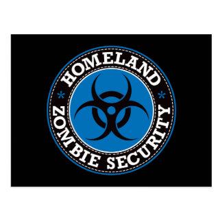 Homeland Zombie Security - Blue B Postcard