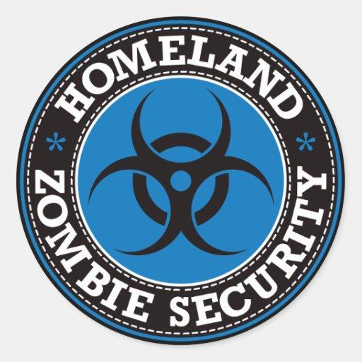 Homeland Zombie Security - Blue B Stickers