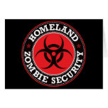Homeland Zombie Security - Red B Greeting Card