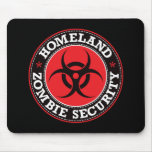 Homeland Zombie Security - Red B Mouse Mats