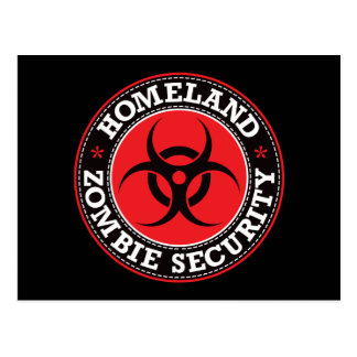 Homeland Zombie Security - Red B Postcard