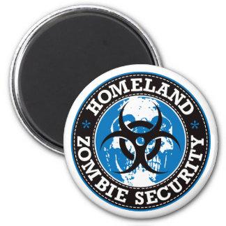 Homeland Zombie Security Skull - Blue Magnet