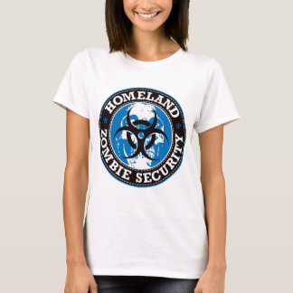 Homeland Zombie Security Skull - Blue T-Shirt